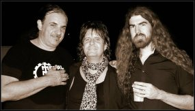 With Kee Marcello and Pino Liberti