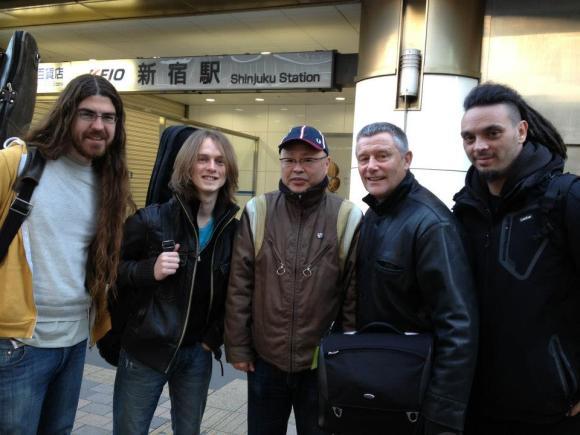 Shinjuku Station, Tokyo with Carl Palmer