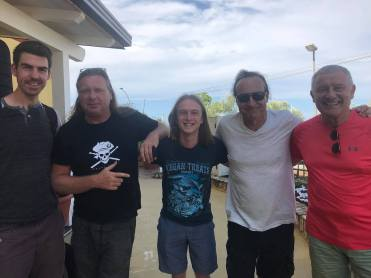 With Bahrend Courbois, Paul Bielatowicz, Vinny Appice and Carl Palmer in southern Italy.